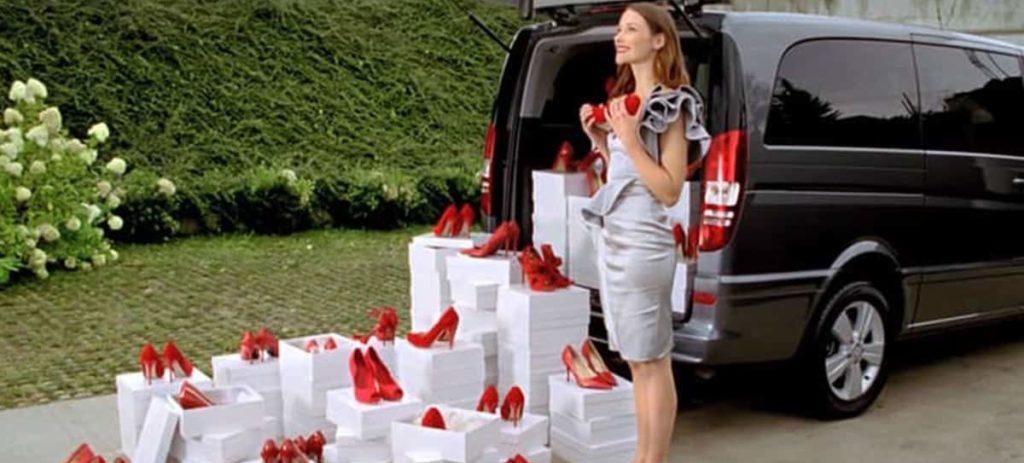 shopping chauffeur rome