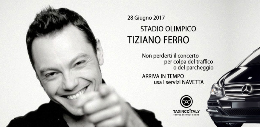Navetta concerto Tiziano Ferro 2017