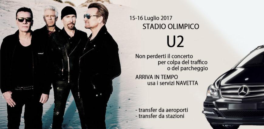 Navetta concerto U2 Stadio Olimpico Luglio 2017
