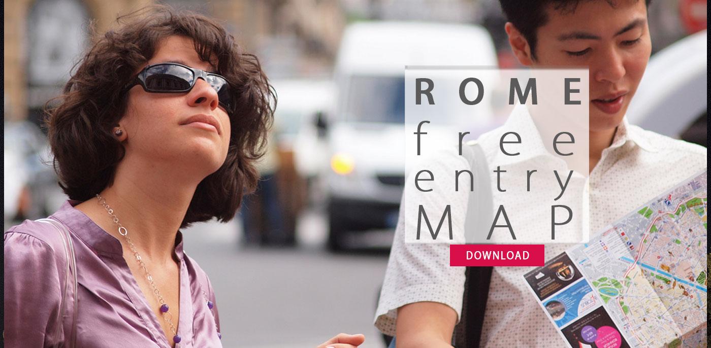 ROMA: DOMENICA AL MUSEO INGRESSO GRATUITO LA MAPPA DEI LUOGHI CON IGRESSO GRATUITO