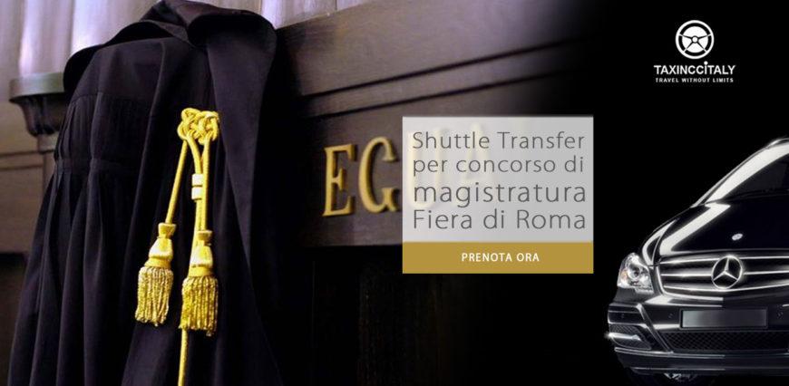 Concorso di magistratura 2018 a Fiera di Roma