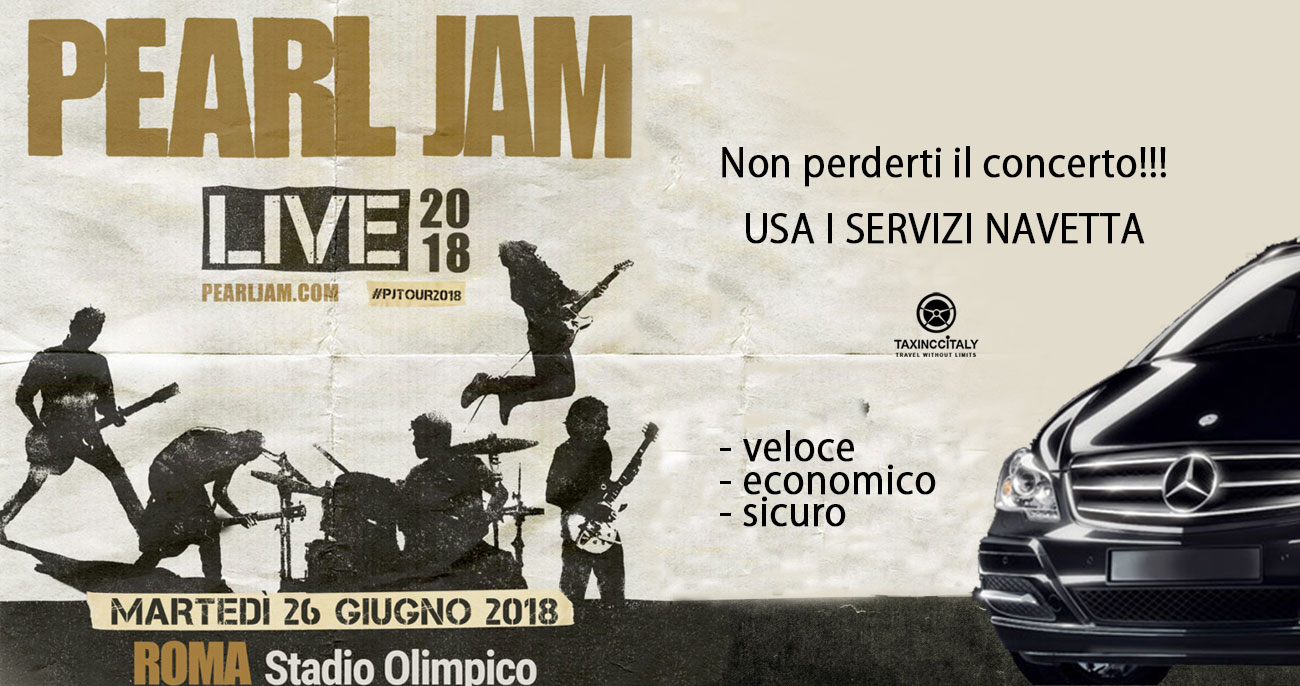 shared shuttle transfer pearl jam concert in rome